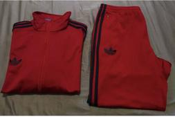 Adidas Firebird Tracksuit Red Navy Professionally Altered Pa