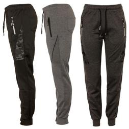 Mens Track Jogger Draw String Sweat Pants Running Active Spo